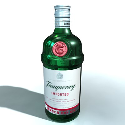 realistic tanqueray bottle dxf - Tanqueray Bottle... by AhearnART