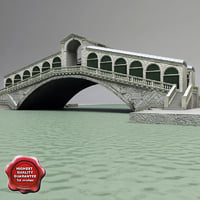 venice rialto bridge 3ds