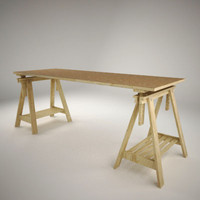 3d model ikea desk vika artur
