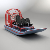 3d model of airboat air boat