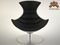 maya lobster chair seamless leather