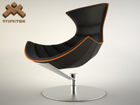 3dsmax lobster chair seamless leather