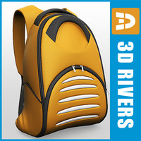 backpack pack 3d model