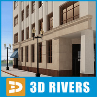 3d model of apartment building