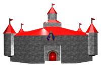 3d model peach s castle