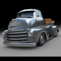 3d model of customized chevy truck c