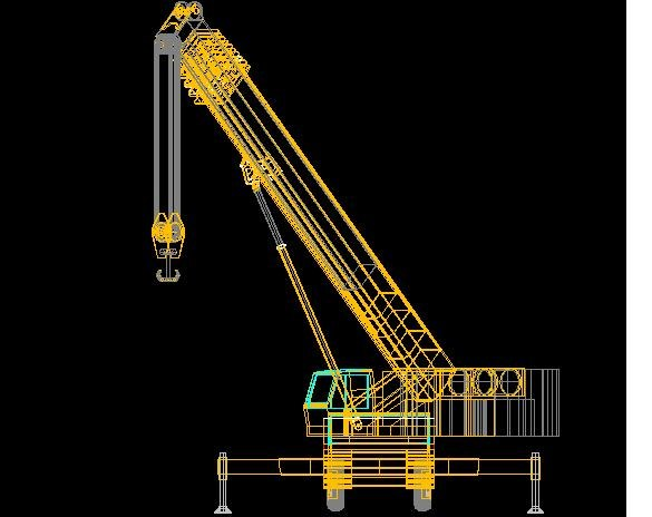 Mobile Crane Cad Block : Mobile crane drawing autocad pixshark images