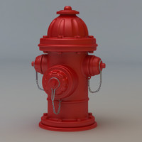3d model hydrant cartoon