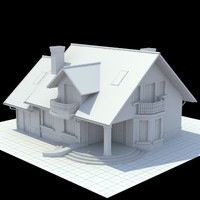 3d single-family house