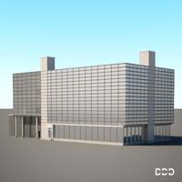 3d model building office