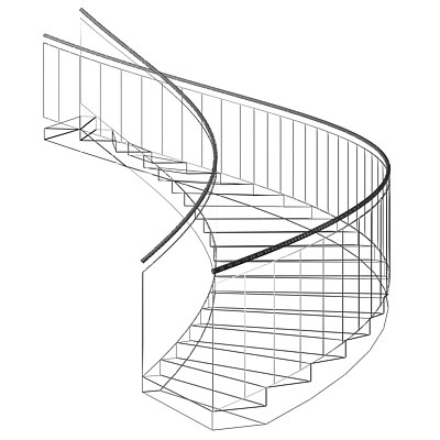 3d Staircase Drawing 40 Complete Success