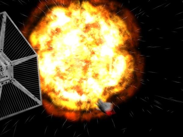 Explosion blast 3d model for Space blast 3d