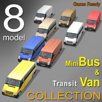 8 minibus van 3d model