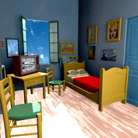 reproduction van gogh s bedroom 3ds