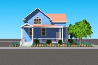 house dwelling 3d model