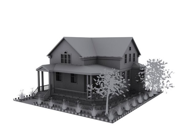 house dwelling 3d model - House.zip... by a_h_m