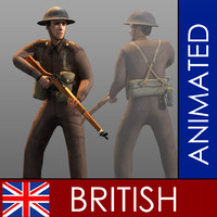 character british soldier 3d model