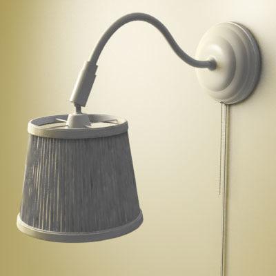 ikea wall lamp 3d model. Black Bedroom Furniture Sets. Home Design Ideas