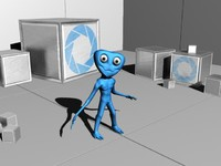 alien grey biped 3d 3ds