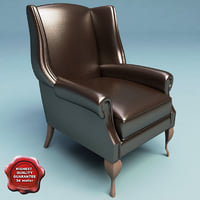 armchair classic v3 3d model