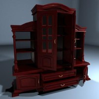 antique cupboard 3d model