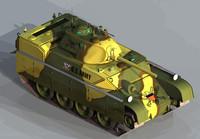3d model upgraded custer