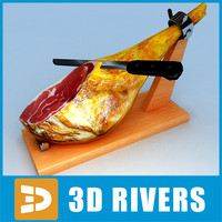 3d jamon serrano model