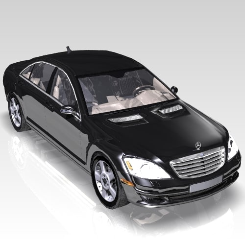 car s class luxurious 3d max