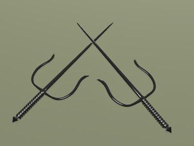 3ds sais weapon martial