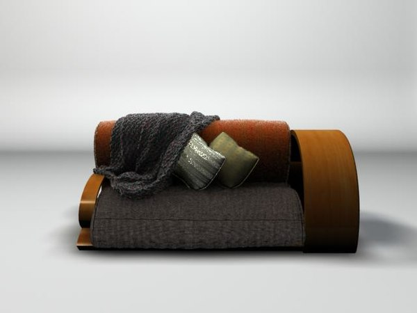 maya contemporary sofa afghan - Sofa with Afghan... by tropicaltalent