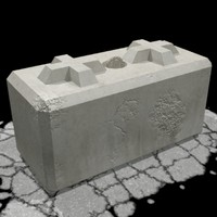 barrier block 3d max