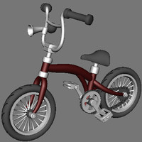 Animated Cartoon Bike