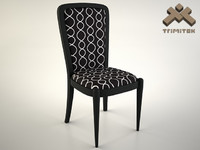 maya black dining chair