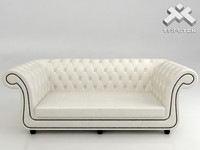 3d model seat chesterfield style sofa