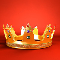 3d gold crown model