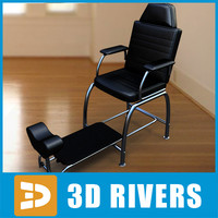 3d model foot massage chair