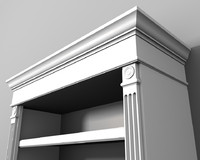 Traditional Bookcase 3d Model