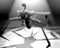 3d model weird creature
