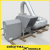 rooftop HVAC blower w/ductwork