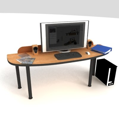 pc office table max - PC Office Desk 02... by Altar Paladin