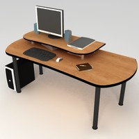 3d pc office table