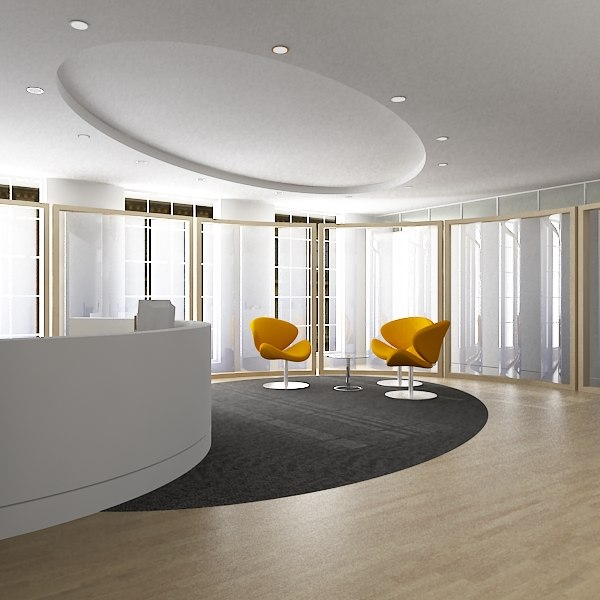 office reception 3d 3ds - office_Reception_interior_01_max 8.zip... by Giimann