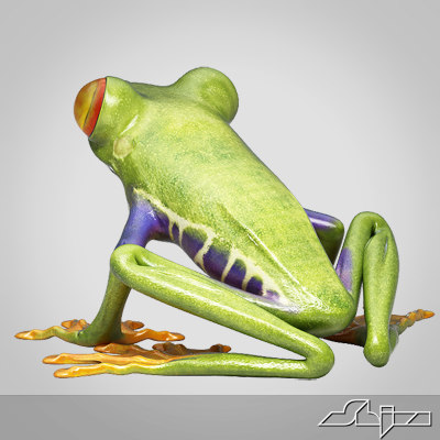 redeye treefrog max9 riged 3d max - Redeye TreeFrog Riged for max9... by shiva3d