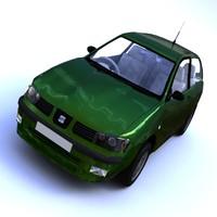 seat ibiza 3 door 3d model