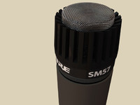 Shure SM-57 Microphone (High Detail)