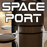 sci-fi spaceport 3d model