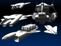 spaceship space ship 3d 3ds