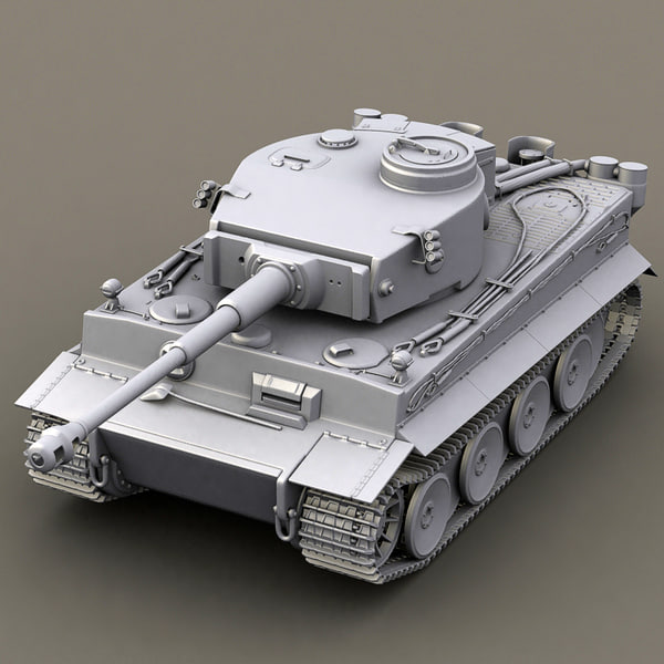 3dsmax german tank tiger - WWII german tank - tiger... by Gametexture