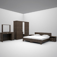 bed set bedroom 3d max