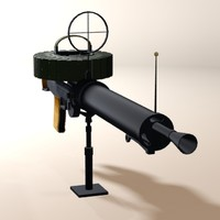 3d lewis gun machine model